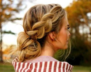 Braided Updo For Bad Hair Days