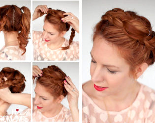 Faux Braided Crown For Second Day Hair