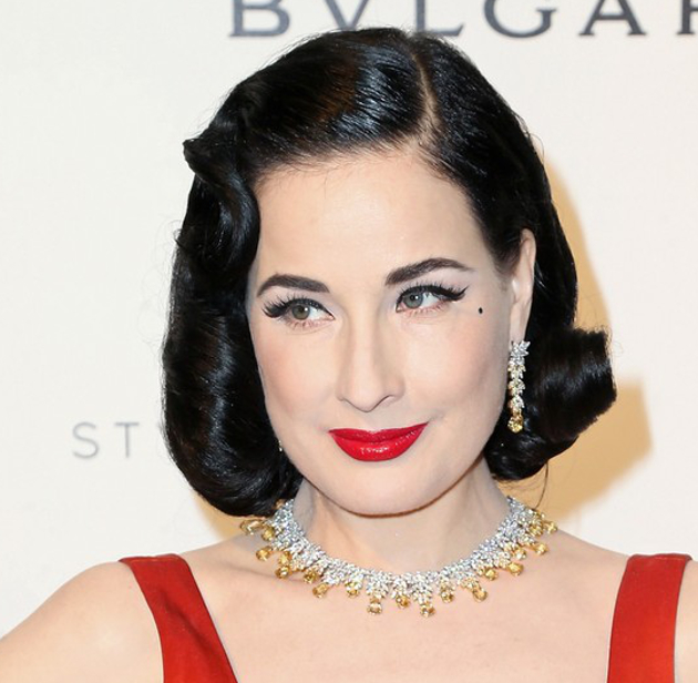 Oscars 2016 Party Hairstyles Dita Von Teese