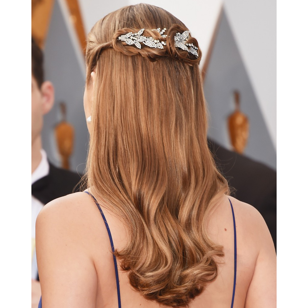 Oscars Hairstyles 2016 Brie Larson Back View