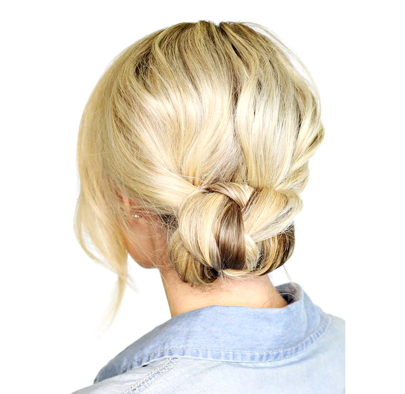 Rolled Up Bun For Dirty Hair