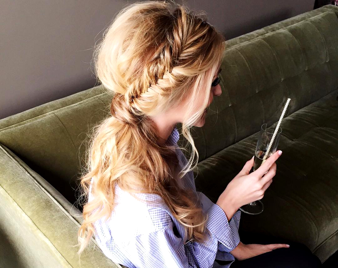 Side Braid Second Day Hairstyles