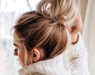 Top Knot For Dirty Hair