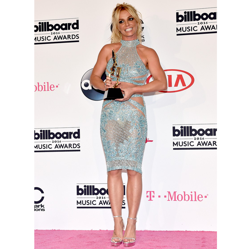 Britney Spears Pale Blue Outfit 2016 Billboard Awards