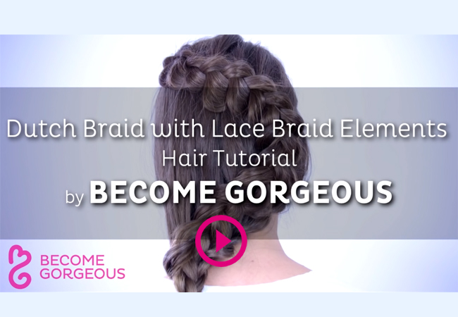 Dutch Braid with Lace Braid Elements
