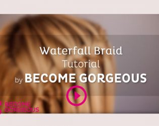 Waterfall Braid Tutorial – Become Gorgeous Find out how to waterfall braid your own hair with these step by step instructions!