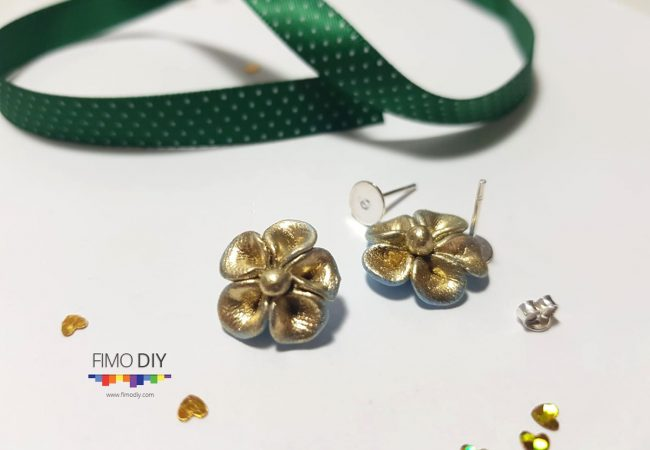 Beautiful polymer clay earrings